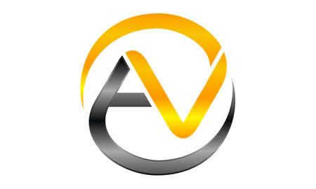 Letter AV Modern illustration good for logo.