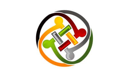 Teamwork Logo Template illustration good for logo.