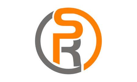 Letter SR illustration good for logo.