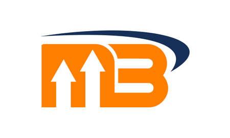 Letter MB Business illustratie goed voor logo op een effen achtergrond.