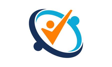 Success Life teaching logo Vector illustration.