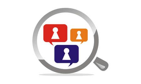 Search Social Security logo Vector illustration.