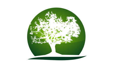 Oak Tree Logo Design Template Vector 免版税图像 - 90818748