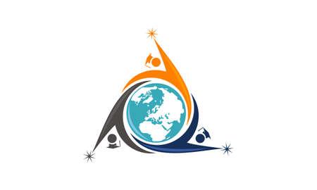 World Education Logo Design Template Vector Stock Vector - 90817818