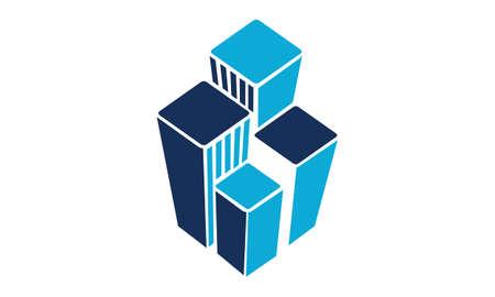 Real Estate Logo Design Template Vector  イラスト・ベクター素材