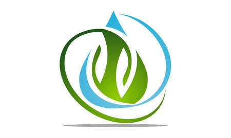 Water and leaf vector