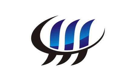 Letter W logo Vector illustration. Illustration