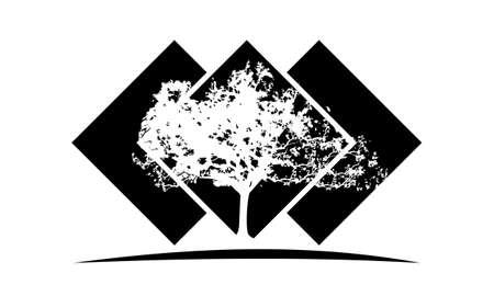 Oak Tree Template logo Vector illustration.