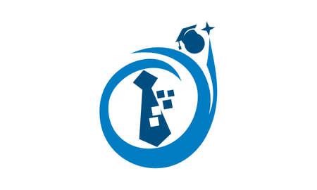 Search Job for Graduate logo Vector illustration.