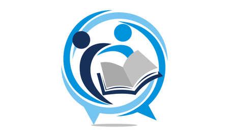 Education Sharing Logo Design Template Vector. Stock Illustratie