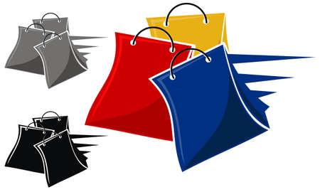 Shop Online Logo Design Template Vector.