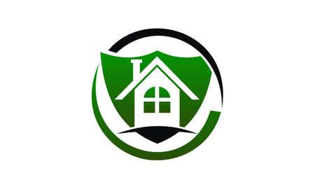 Home Security Logo Design Template Vector