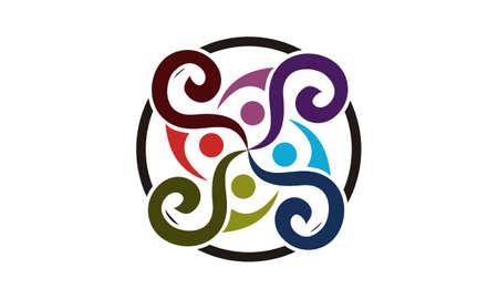 Synergy Vector Logo Design Template