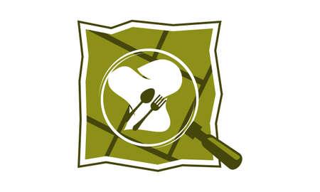 Restaurant Search Logo Design Template Vector.