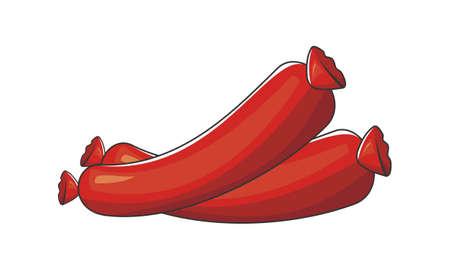 Sausage Logo Design Template Vector.