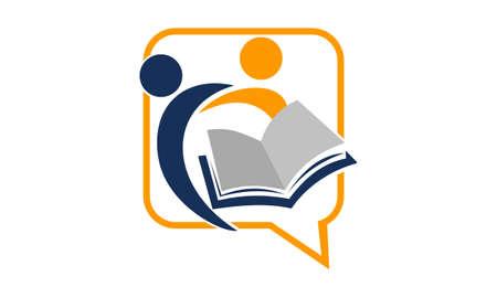 Education Sharing Logo Design Template Vector. Illustration