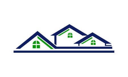 Ligne de toit de maison Vecteurs