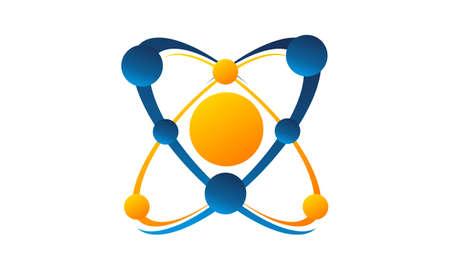 Connection Vector Logo Design Template Vector