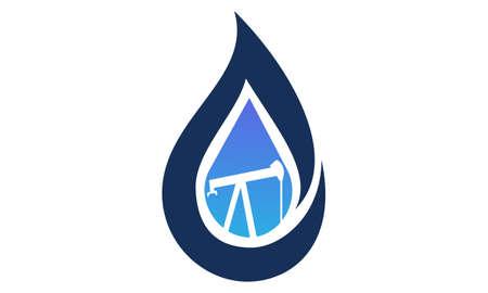 Mijnbouwonderzoek Logo Design Template Vector