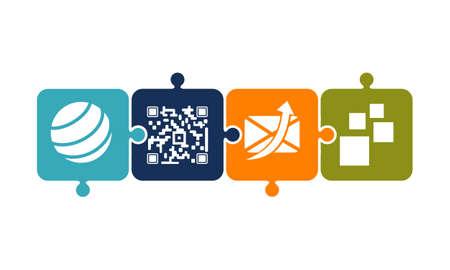 Mobility solver Logo Design Template Vector