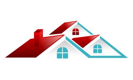 Wektor dachu nieruchomości