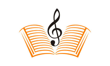 Music Education Logo Design Template Vector. Illustration