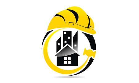 Inżynier nieruchomości szablon projektu koncepcji logo. Logo