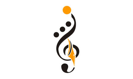 Music Education Logo Design Template Vector. 일러스트