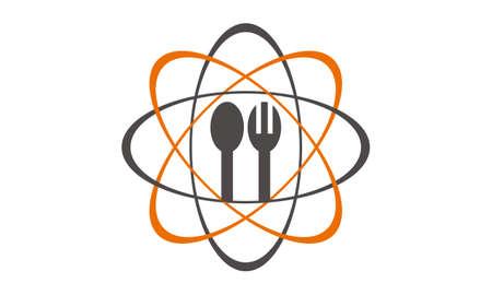 Restaurant Technology Logo Design Template Vector. Illustration