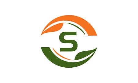 Green Project Solution Center Initial S Ilustração