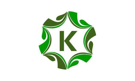 Green Initial K logo