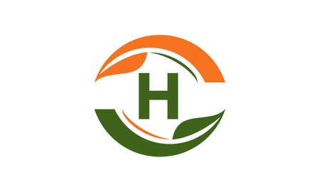 Green Project Solution Center Initial H logo Stock Illustratie