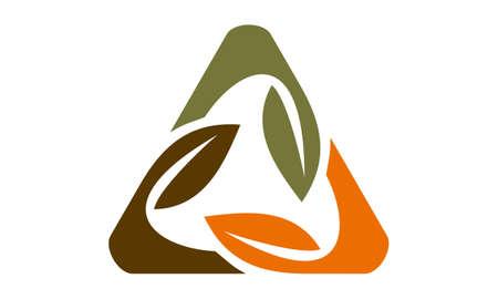 Leaf Rotation Logo Design Template Vector Illustration