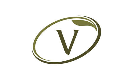 Letter V in an oval