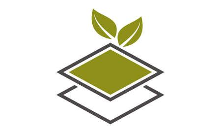 Landscape home Logo Design Template Vector Illustration