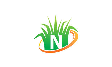 Lawn Care Center Initial N Illustration