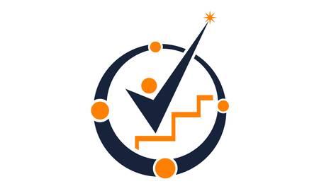 Leadership Abstract Logo Design Template Vector Illustration