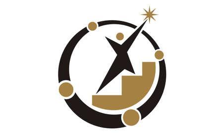 Leadership Abstract Logo Design Template Vector 일러스트