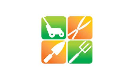 Gardening tools flat illustration. Illustration