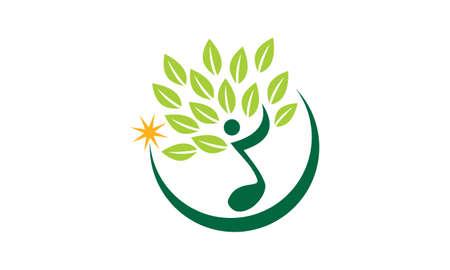 Music Tree Course icon logo vector illustration.