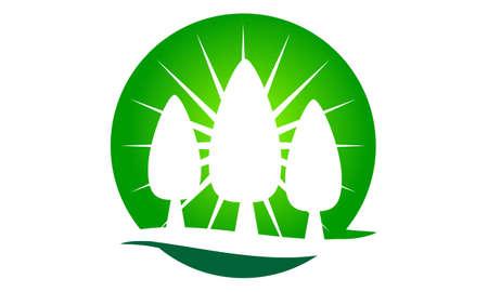 Landscaping Care taking Logo Design Template Vector Stock Illustratie