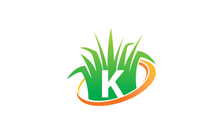 Lawn Care Center Initial K Illustration