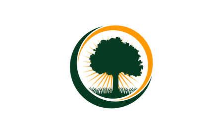 Oak Tree Center icon Illustration