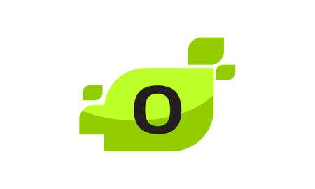 Leaf Initial O Logo Design Template Vector Ilustração