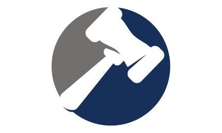 Hammer Legal Auction icon Vector illustration.