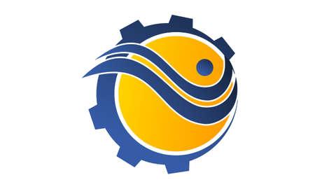 Gear Solution Logo Design Template Vector Illustration