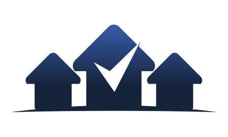 Real Estate Center Solutions logo Vector illustration.