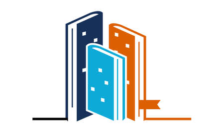Book and Hotel logo Vector illustration.