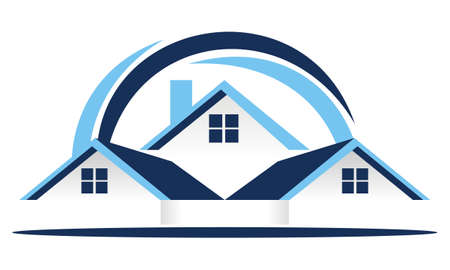 Real Estate Roof logo Vector illustration.