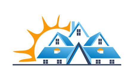 Real Estate Center Solutions logo template Illustration